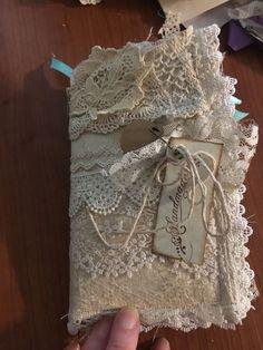 junk Journal, handmade , shabby chic journal, vintage journal, lace journal | eBay