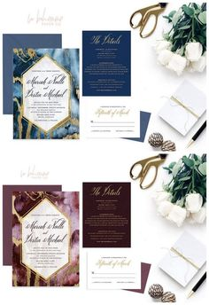 15 Gorgeous Geode Agate and Crystal Wedding Invitations: http://www.confettidaydreams.com/geode-agate-and-crystal-wedding-invitations/