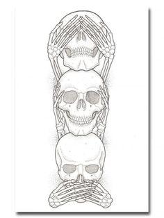 """No Evil"" Print by Ozzie Perez for Inked #inked #inkedshop #inkedmagazine #decor #art"