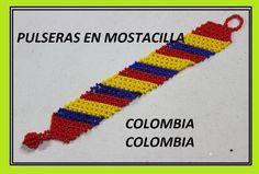 MANILLA COLOMBIA Crochet Flower Tutorial, Macrame Tutorial, Crochet Flowers, Macrame Necklace, Beaded Bracelets, Macrame Patterns, Beading Tutorials, Bracelet Designs, Diy Jewelry