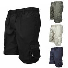 These Quick Dry Cargo Shorts are an ideal essential for your morning workout or afternoon swim, no matter the mileage. They're lightweight, flexible and breathable for cool comfort. Seahawks Colors, Combat Pants, Quick Dry, Mens Fashion, Shorts, Cotton, Shopping, Ebay, Style