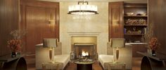 Start or end the evening with a convivial cocktail by the fire at The Ritz-Carlton, Toronto.