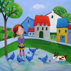View Iwona Lifsches's Artwork on Saatchi Art. Find art for sale at great prices from artists including Paintings, Photography, Sculpture, and Prints by Top Emerging Artists like Iwona Lifsches. Arte Dachshund, Illustration Art, Illustrations, Easter Art, Easter 2015, Arte Popular, Happy Art, Naive Art, Original Art For Sale