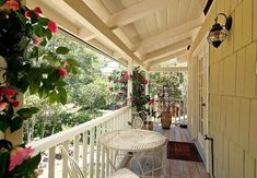 Architecture, Decorating Small Porch with Awesome Nuance: Small Porch With White Wooden Celiing