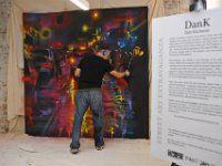 Street Artist Dan K in the Milliken Showroom for CDW 2016