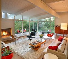 Gorgeous atomic ranch living room!