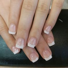 Photo of Nails by Christine - Los angeles, CA, United States. White Tip Acrylic Nails, Square Acrylic Nails, Acrylic Nail Designs, Cute Nails, Pretty Nails, Fake Gel Nails, Solar Nails, French Manicure Nails, Dipped Nails