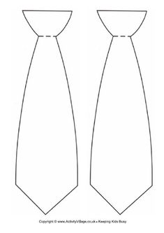 father's day tie outline