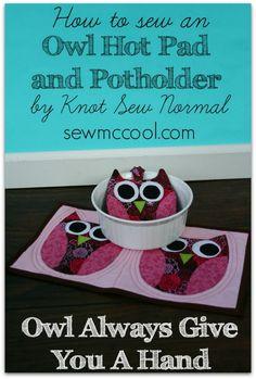 Tutorial: Owl hot pad and pot holder set