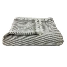 Handloomed Striped Cashmere Throw