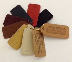 COACH Leatherware Sample Color Palette FOBS,7 Colors Total, Coach Leather Detail #Coach #ColoredLeatherSamples