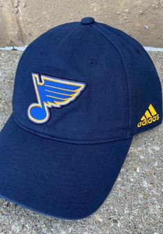 Adidas St Louis Blues Slouch Adjustable Hat - Navy Blue - 14858795 St Louis Blues, Team Logo, Baseball Hats, Navy Blue, Adidas, Gifts, Baseball Caps, Presents, Caps Hats