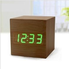 Modern Alarm Clock With Weather Station - Shows Weather ...