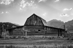 Moulton barn in Grand Teton National Park - B&W. Fine art photography print Barns home decor wall art. The T. A. Moulton barn is all that remains of the homestead built in the early 1900's. Now located inside Grand Teton National Park near Moose, Wyoming.. Image # 13-173219 ~~ SELECT DESIRED SIZE USING THE OPTIONS BUTTON ABOVE ADD TO CART. Available in: 8x10, 11x14, 12x18, 16x24, 20x30, 24x36 prints.