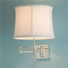 Classic Pencil Arm Swing Arm Wall Lamp: maybe wall mounted instead of lamps on the nightstands?