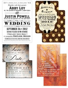 Royal Steamline is a full service design studio based in Portland who specializes in creating invitations with a vintage, steampunk and retro look.
