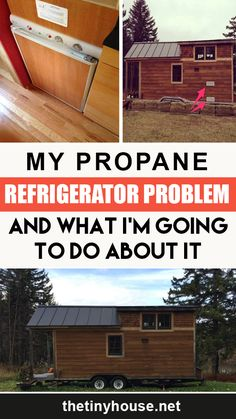 No matter how much research you do before building your tiny house, you'll always realize mistakes that you made after you've moved in. Case in point: my propane refrigerator, the Norcold N-300. It has really become a propane refrigerator problem. Tiny House Builders, Building A Tiny House, Tiny House Plans, Tiny House On Wheels, Tiny House Family, Tiny House Living, House Heater, Cheap Tiny House, Tiny House Appliances