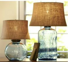 Seaglass lamps - would love to fill with seashells