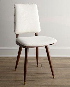 """H6A1P Jonathan Adler """"Joellen"""" Linen Chair"""