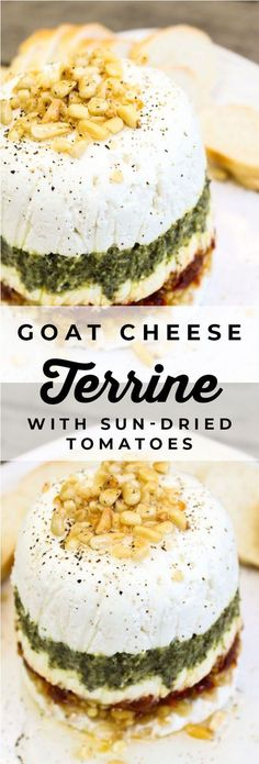 Goat Cheese Pesto and Sun-Dried Tomato Terrine Goat Cheese Pesto and Sun-Dried Tomato Terrine Karen The Food Charlatan foodcharlatan The Food Charlatan Recipes Goat Cheese Pesto and nbsp hellip Appetizers Appetizers For Party, Appetizer Recipes, Appetizers With Goat Cheese, New Year's Food, Dried Tomatoes, Sun Dried, Cheese Recipes, Clean Eating Snacks, Sauces