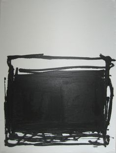 "Abstract Minimal Black No.3178 Acrylic on Canvas 18 x24"" on Etsy, 366,67 kr"