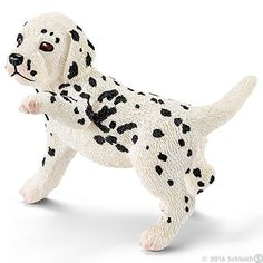 Schleich - Pets Dalmatian Puppy 16839 My almost 2yo thinks dogs are hilarious, and loves her toy animals #EntropyWishList #PinToWin