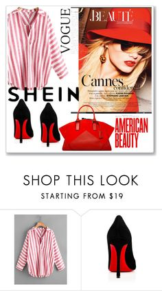 """""""Shein Contest"""" by amle-b ❤ liked on Polyvore featuring Christian Louboutin"""