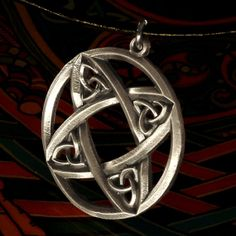 Celtic Sterling Silver Circular  Pendant by CelticEternity on Etsy, $26.00