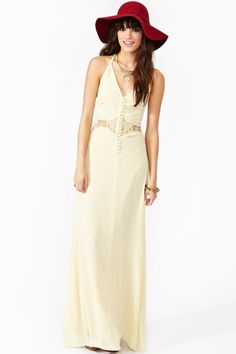 This has Sasquatch Music Festival all over it. Siobhan Maxi Dress - Cream
