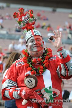 "Jon ""Big Nut"" Peters - Now this is an OSU Buckeyes fan!"