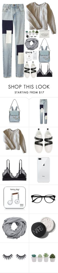 """""""Untitled #2962"""" by wtf-towear ❤ liked on Polyvore featuring Chloé, Simon Miller, Anine Bing, Valentino, LoveStories, Happy Plugs, EyeBuyDirect.com, MANGO and House Doctor"""