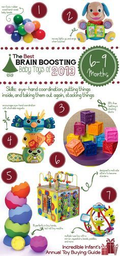Best Brain-Boosting Toys for 6-9 Month Old Babies http://www.incredibleinfant.com/sweet-stuff/best-baby-toys-2013/