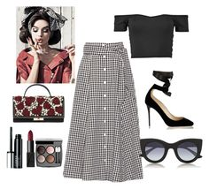"""""""almost weekend"""" by karina-araya on Polyvore featuring Lisa Marie Fernandez, Valentino, Jimmy Choo, NARS Cosmetics, Clinique, Chanel and Thierry Lasry"""
