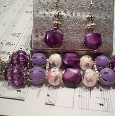 Purple Chunky Beaded Interchangeable Watch Band Face by BeadsnTime, $35.00