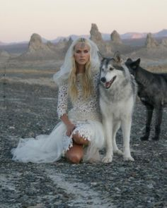 this is seriously how i want my wedding to be... with wolves :)
