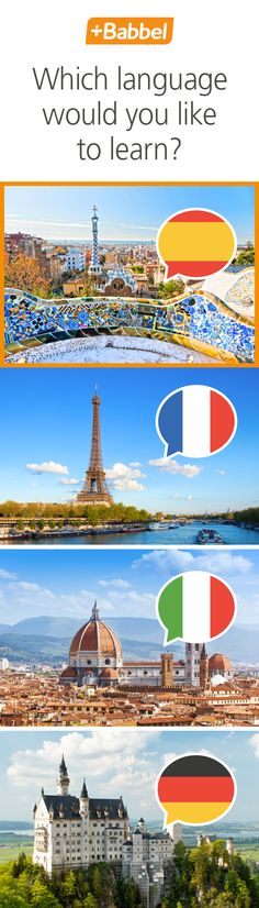 Learn Spanish, French, Italian, German and many more with Babbel. Expand your worldview and start learning now!