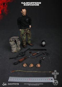 """toyhaven: Incoming: DAM Toys 1/6 scale The Gangsters Kingdom Spade 3 12"""" figure (Wayne Rooney?)"""