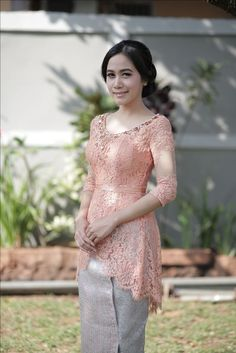 Great Lace Dresses from 20 of the Of The Best Lace Dresses collection is the most trending fashion o Kebaya Lace, Kebaya Hijab, Batik Kebaya, Kebaya Dress, Kebaya Muslim, Batik Dress, Kebaya Wedding, Wedding Dresses, Hair Wedding