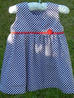 Free Baby Dress Sewing Pattern from Sew Jereli (size 6-12 months)