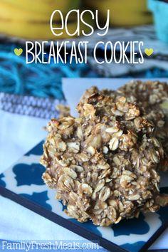 Healthy Oatmeal Breakfast Cookies - FamilyFreahMeals.com