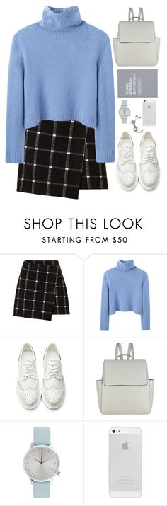 """""""First day of school."""" by mskaterina ❤ liked on Polyvore featuring The Row, John Lewis, Komono, school, white, simple and sweaterweather"""