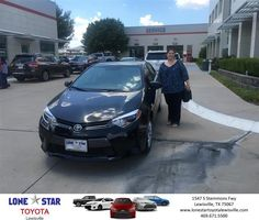 Lone Star Toyota of Lewisville Customer Review  Thank you Lone Star Toyota for the new 2016 Corolla!  Monica, https://deliverymaxx.com/DealerReviews.aspx?DealerCode=E208&ReviewId=49508  #Review #DeliveryMAXX #LoneStarToyotaofLewisville
