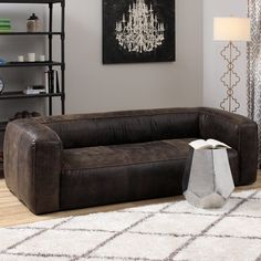 Diva Outback Bridle Dark Brown Leather Sofa - Overstock Shopping - Great Deals on Sofas & Loveseats Oversized Couch, Brown Leather Couch, Modern Sofa Sectional, Dark Brown Leather Sofa, Types Of Sofas, Brown Leather Sofa, Leather Upholstery, Sofa, Dark Brown Leather