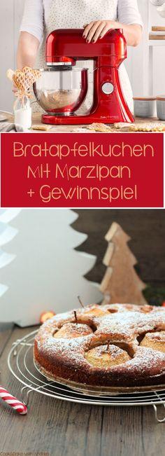 ** Gewinnt die Küchenmaschine Frida in rot von Springlane! ** Alle weiteren Infos und die Teilnahmebedingungen findet ihr auf dem Blog, sowie in leckeres Rezept für einen Brarapfelkuchen mit Marzipan  #gewinnspiel #weihnachten #giveaway #springlane #bratapfelkuchen #marzipan #winter #kuchen #foodblog #blog #candbwithandrea #candbfood