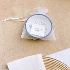 Ceramic Italian olive oil dipping bowl wedding favors // Photographer: Aaron Delesie // Belle Destination Weddings & Events, Inc. // http://www.theknot.com/weddings/album/an-elegant-island-wedding-in-maui-hi-148360