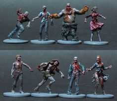 An absolutely beautiful (and repulsive) paint job on these models from Zombicide.