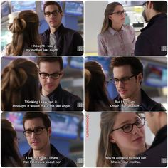 """""""I thought I saw my mother last night. I hate that I still care about her"""" - Mon-El and Kara #Supergirl (by karamelwood_)"""