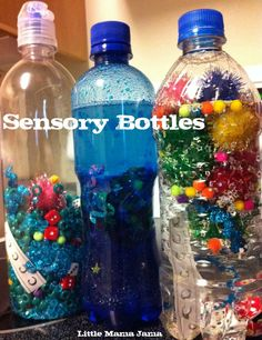My Pinterest addiction has introduced me to several new ideas for fun things to do with C, including making sensory bottles for him. C has sensory processing disorder (SPD) and these sensory bottles might provide some interest to various textures. Depending on your child's age, you could even have them help you create their own …
