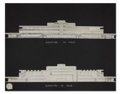 Planning drawings for Airport Terminal Building, Collinstown, showing elevations to the field and the road. Circa 1938 (Worked here for 8 years! Raf Bases, Dublin Airport, Plan Drawing, Ireland, Aviation, How To Plan, History, Architecture, Drawings