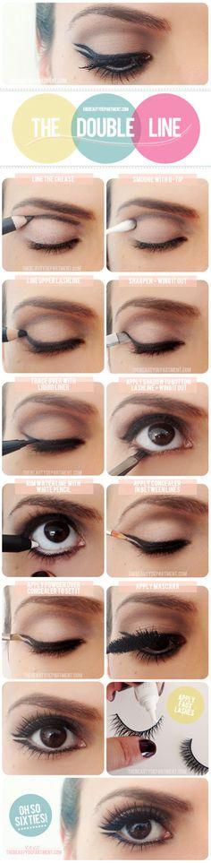 Double Line Eye Makeup Tutorial #eyeshadow #makeup #beauty
